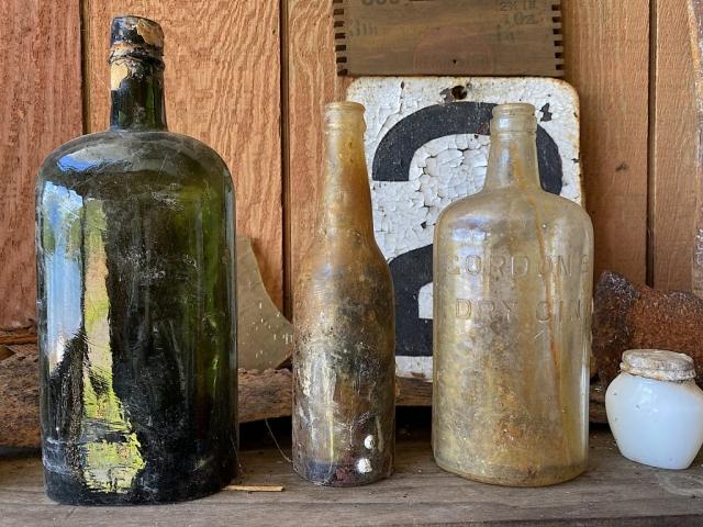 Old bottles on display in Anyox #olafincanada #britishcolumbia #discoverbc #abandonedbc #anyox