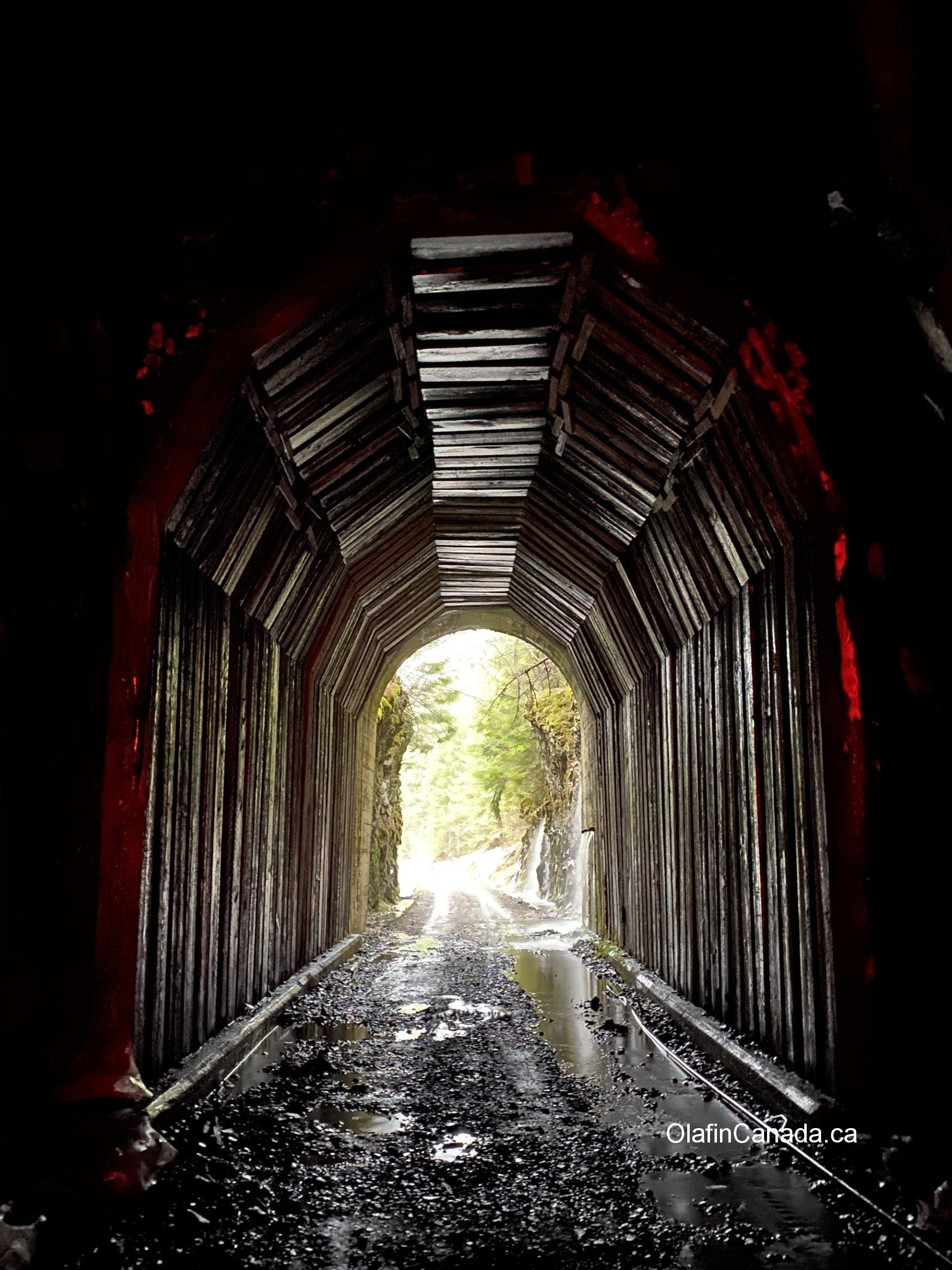 Bulldog Tunnel (912 meters long) on the Columbia Western Railway in the Kootenays #bulldogtunnel #kootenays #abandonedbc