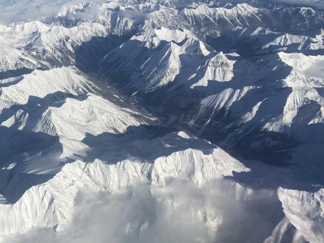 Flying over the Coastal Mountains near Vancouver #olafincanada #britishcolumbia #discoverbc #coastalmountains