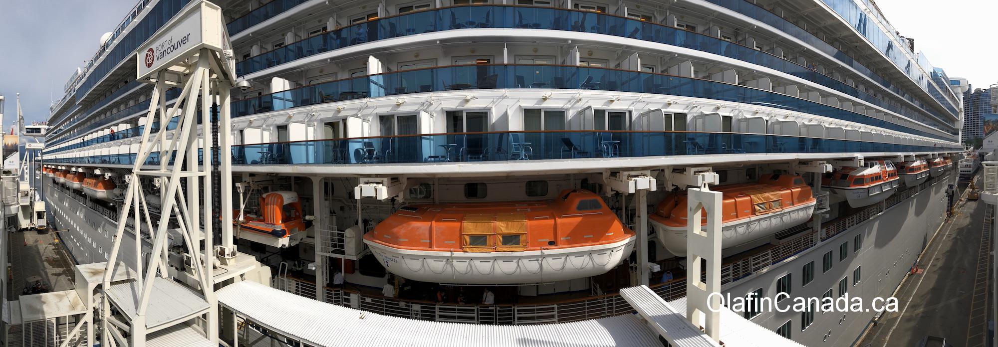 Fish eye photo of cruise ship in Vancouver #olafincanada #britishcolumbia #discoverbc #vancouver #cruiseship