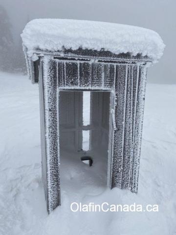 Outhouse on Crystal Mountain ski resort in West Kelowna #olafincanada #britishcolumbia #discoverbc #abandonedbc #westkelowna #crystalmountain #okanagan