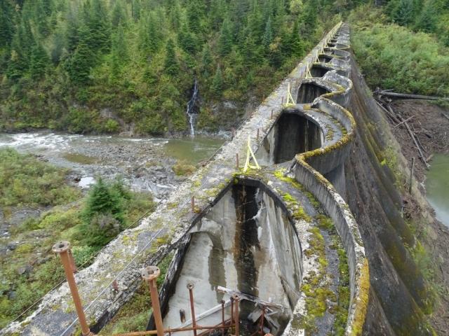 On top of the dam in Anyox #olafincanada #britishcolumbia #discoverbc #abandonedbc #anyox #dam