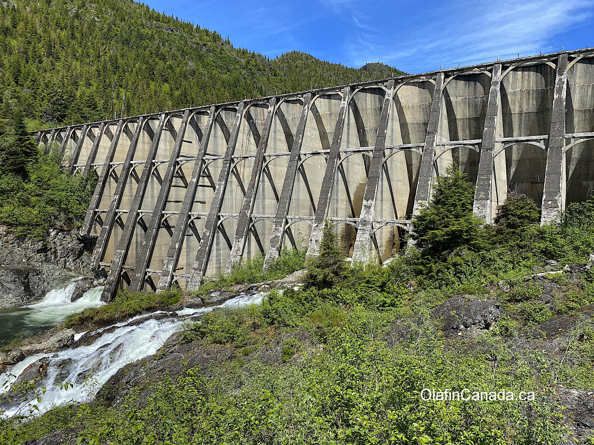 Elegant hydroelectric dam built in 1922 #olafincanada #britishcolumbia #discoverbc #abandonedbc #anyox #dam