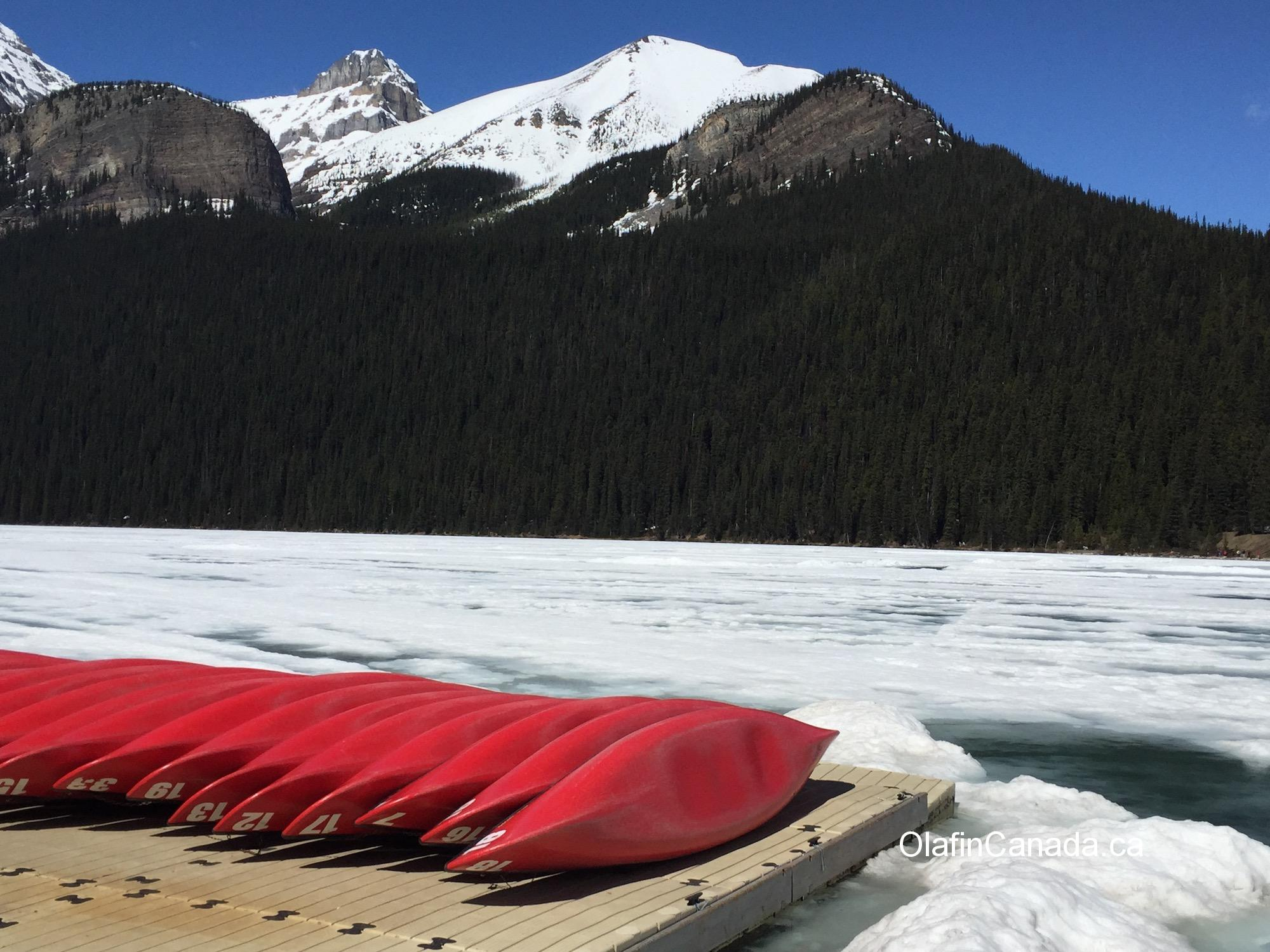 Kayaking in Lake Louise #olafincanada #alberta #rockies #lakelouise