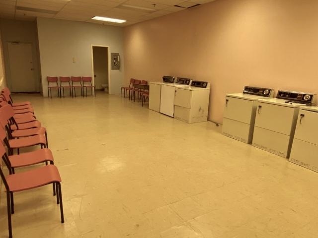 Laundromat in the mall in Kitsault #olafincanada #britishcolumbia #discoverbc #abandonedbc #kitsault