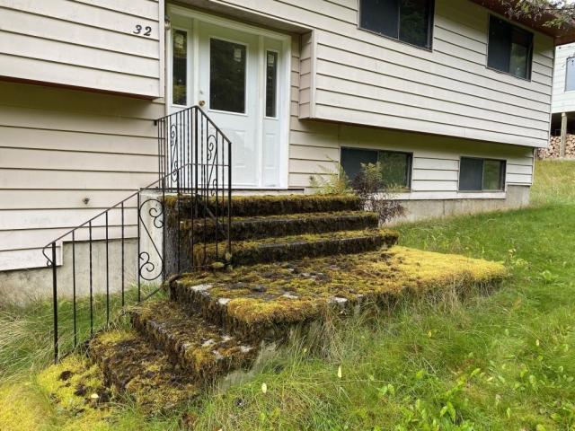 Mossy doorstep at abandoned house in Kitsault #olafincanada #britishcolumbia #discoverbc #abandonedbc #kitsault