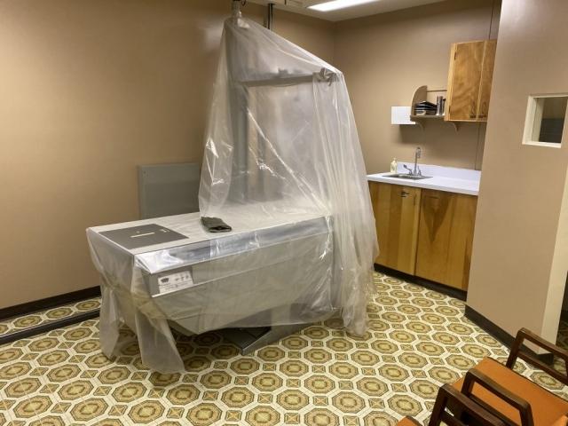 Radiology and X-ray room in Kitsault #olafincanada #britishcolumbia #discoverbc #abandonedbc #kitsault #hospital
