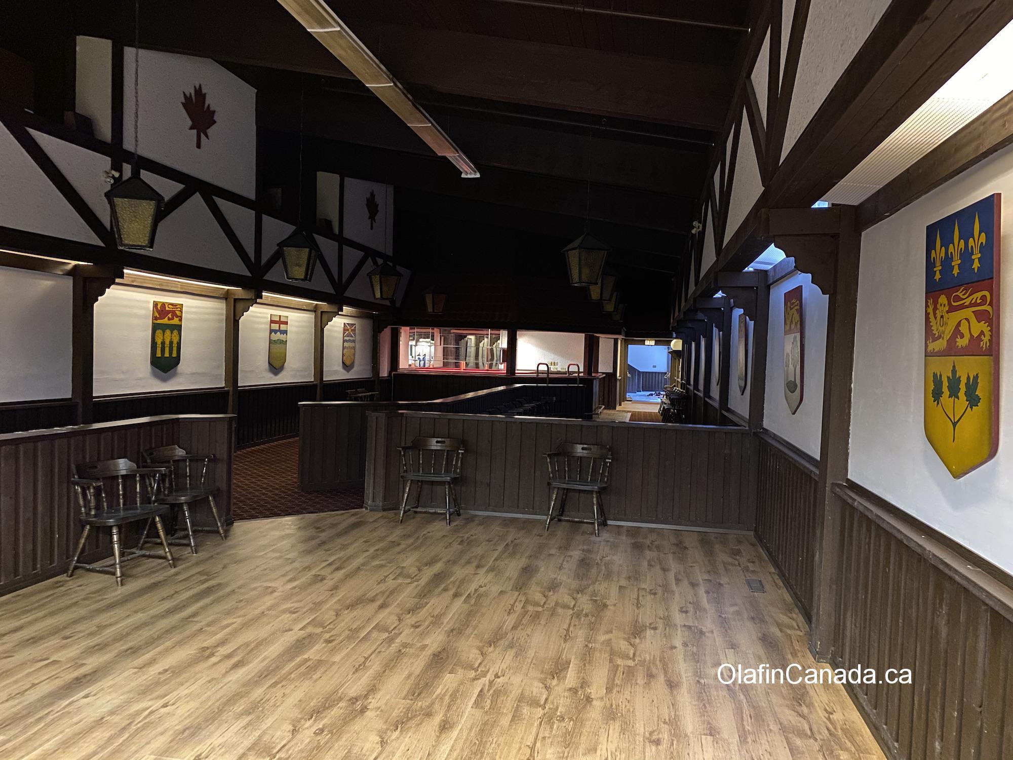 Dance floor in the Maple Leaf pub in Kitsault #olafincanada #britishcolumbia #discoverbc #abandonedbc #kitsault #pub
