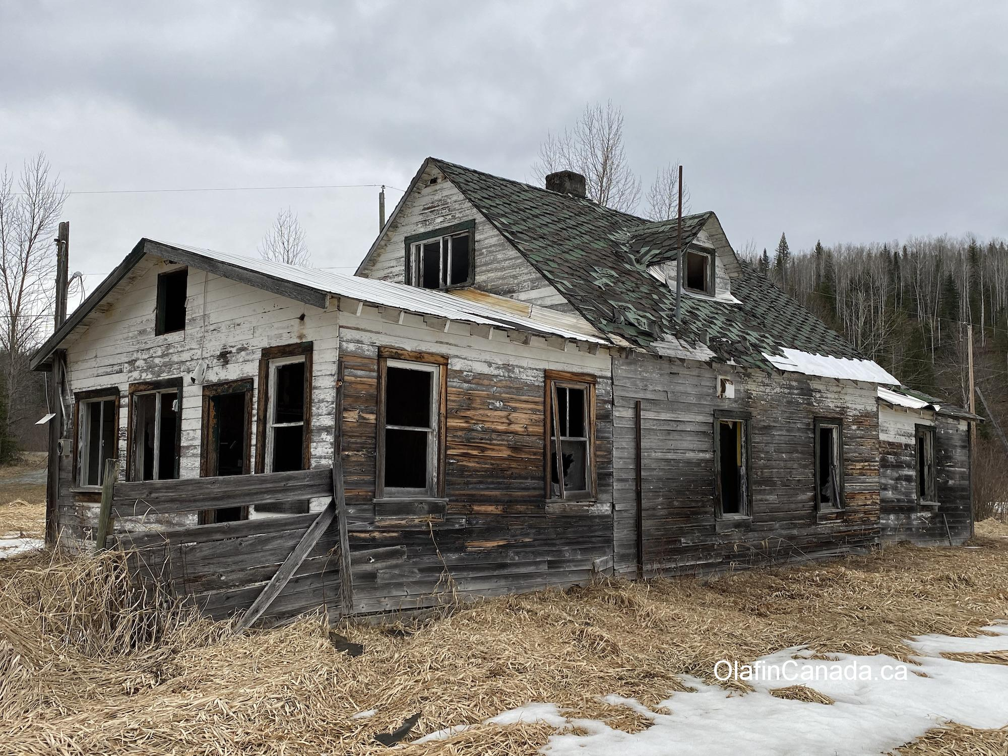 Abandoned home of the Helset family on the Clearwater Valley Road in south Wells Gray Park #olafincanada #britishcolumbia #discoverbc #abandonedbc #clearwater