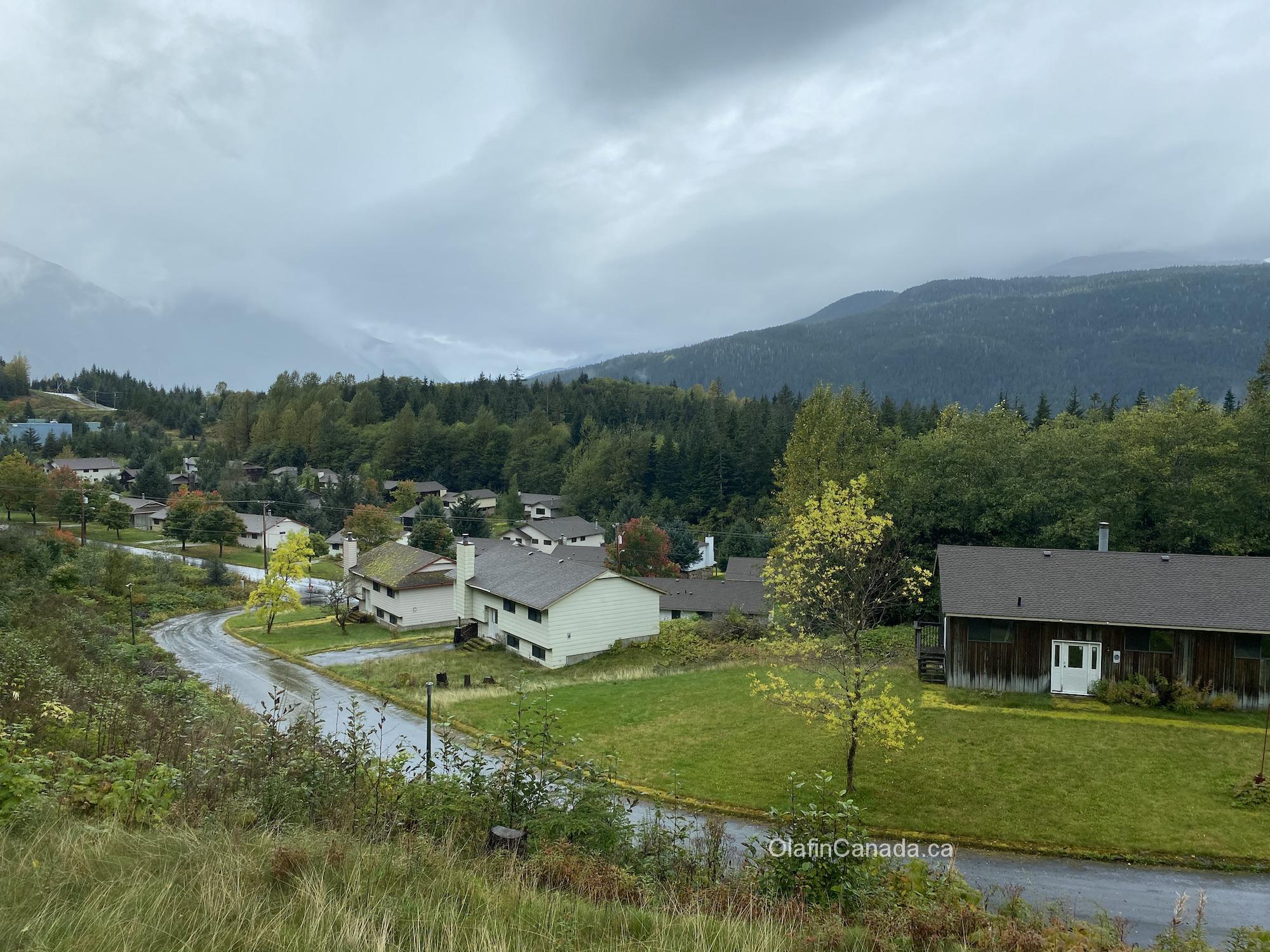 View from the guest house overlooking Kitsault #olafincanada #britishcolumbia #discoverbc #abandonedbc #kitsault