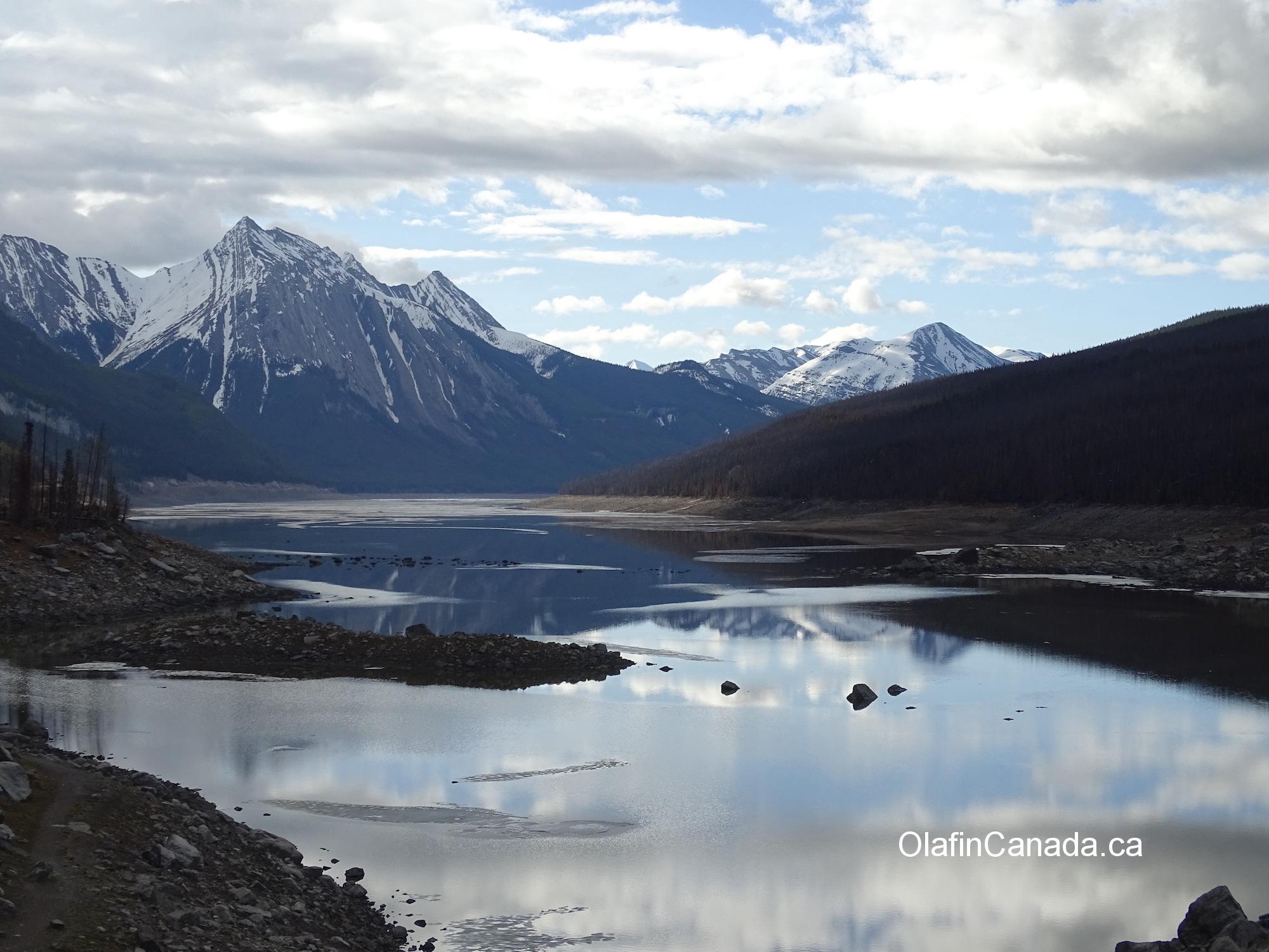 Medicine Lake near Jasper AB #olafincanada #alberta #rockies #medicinelake #jasper