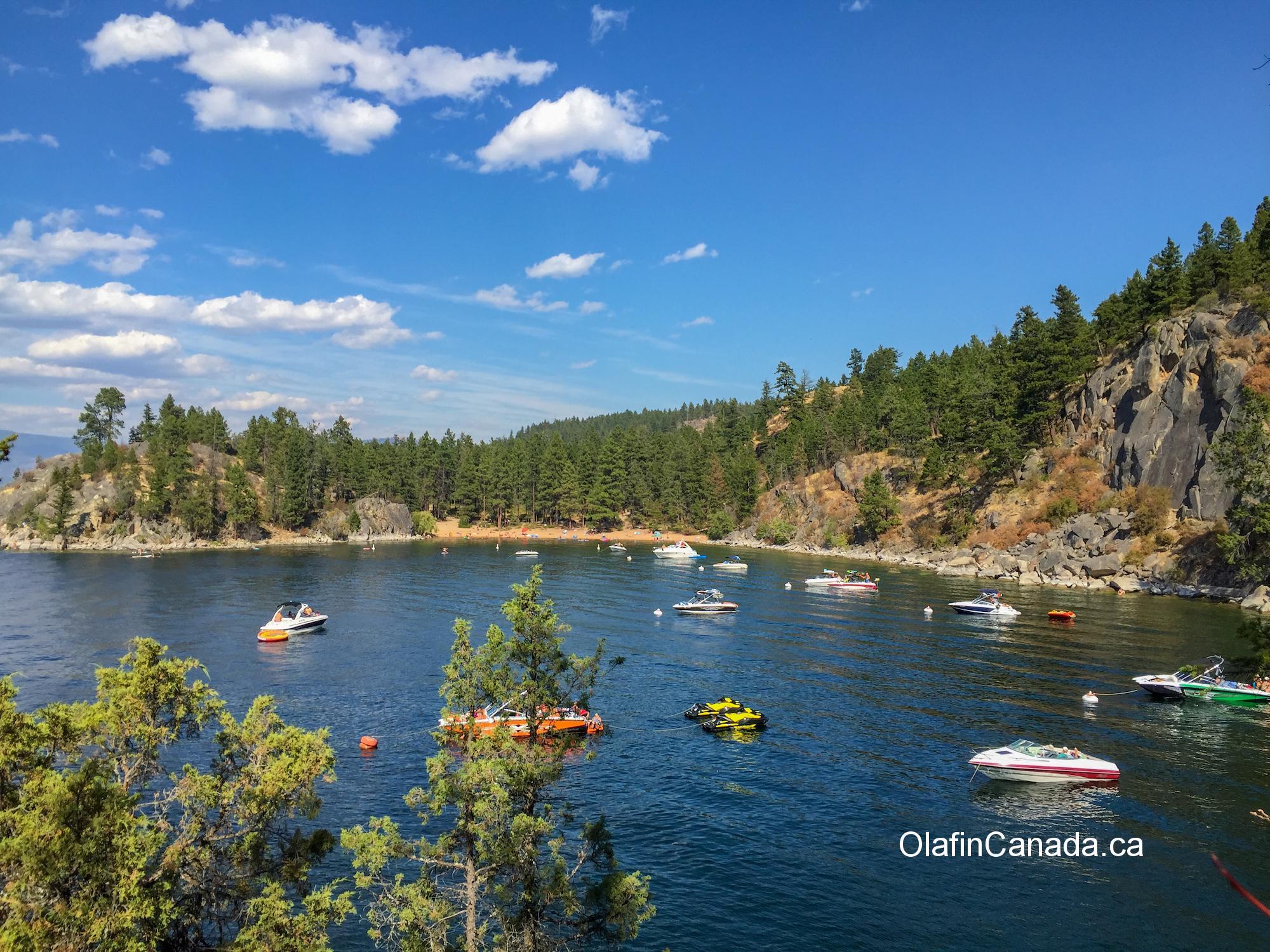 Boats resting on Okanagan Lake #olafincanada #britishcolumbia #discoverbc #okanaganlake #sunshine