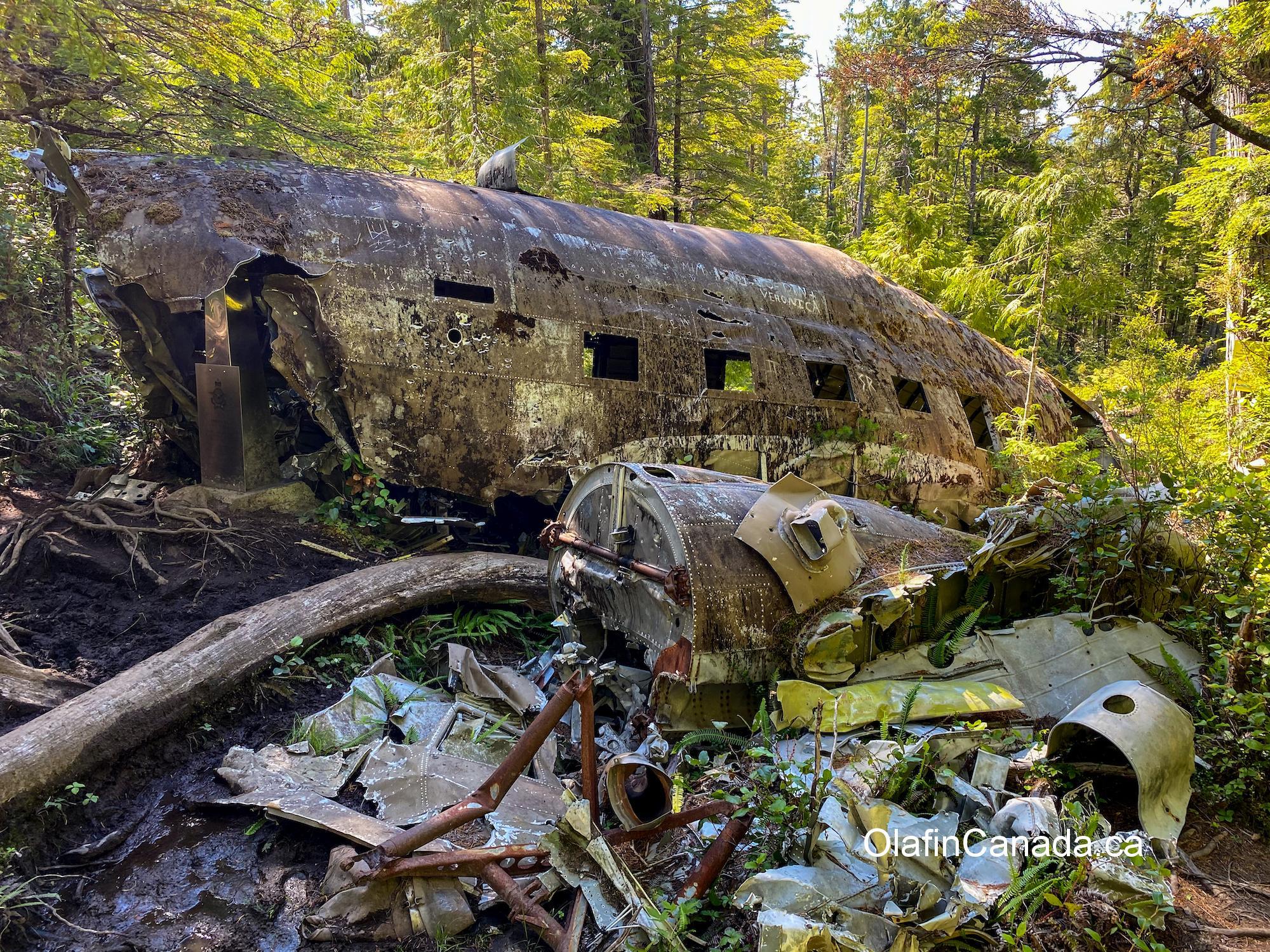 Dakota plane, crashed in 1944 near Port Hardy on Vancouver Island #olafincanada #britishcolumbia #discoverbc #abandoned #crashed #dakota