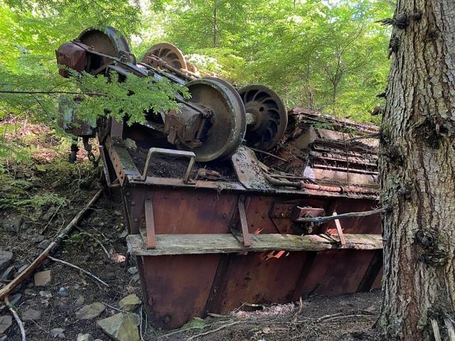 Derailed mine cart in Anyox #olafincanada #britishcolumbia #discoverbc #abandonedbc #anyox