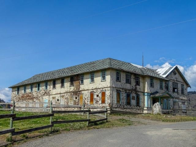 Tranquille sanatorium at the entrance of Tranquille, near Kamloops. #olafincanada #britishcolumbia #discoverbc #abandonedbc #tranquille