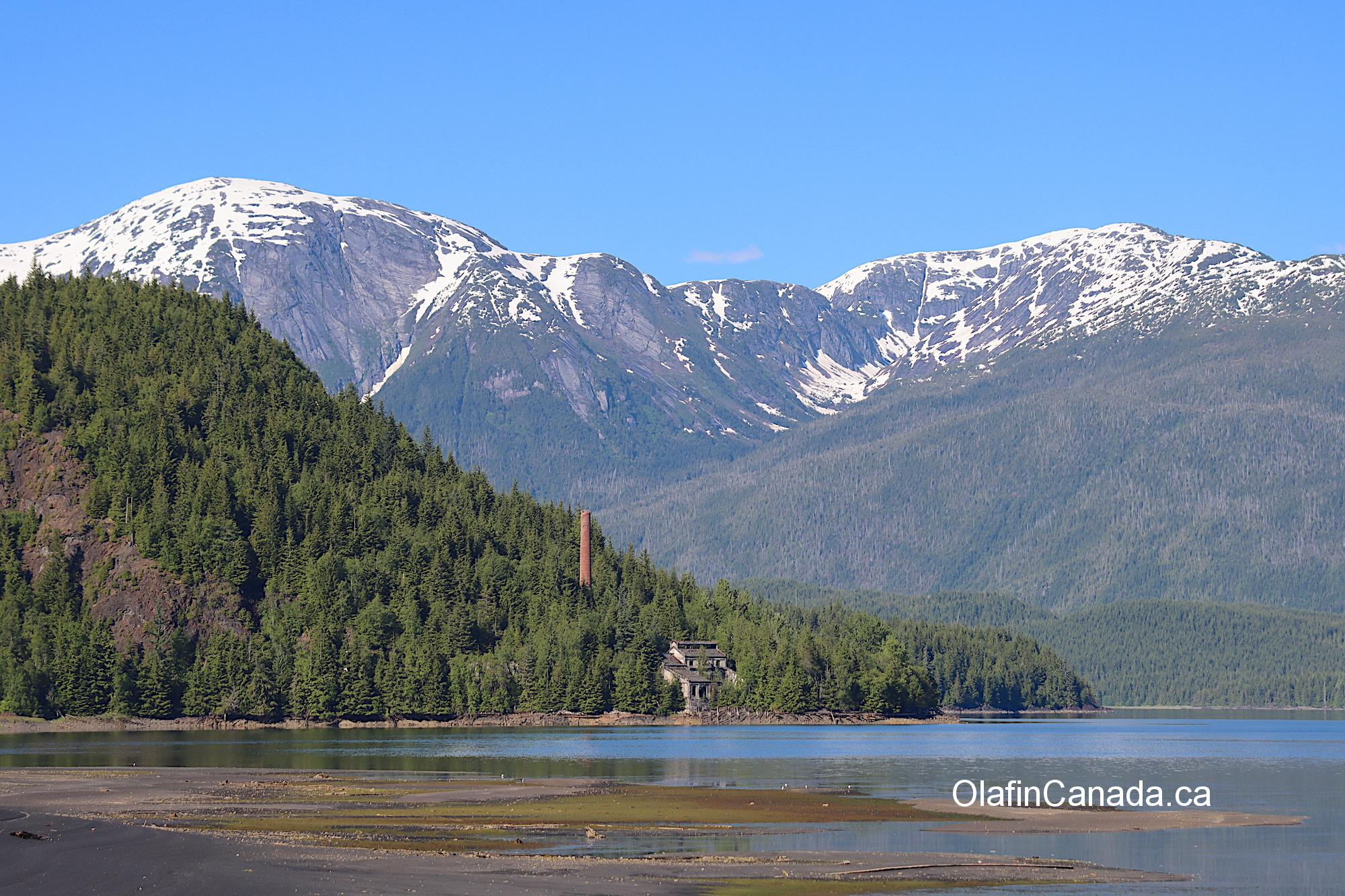 Mountain view with the coke plant in the foreground #olafincanada #britishcolumbia #discoverbc #abandonedbc #anyox