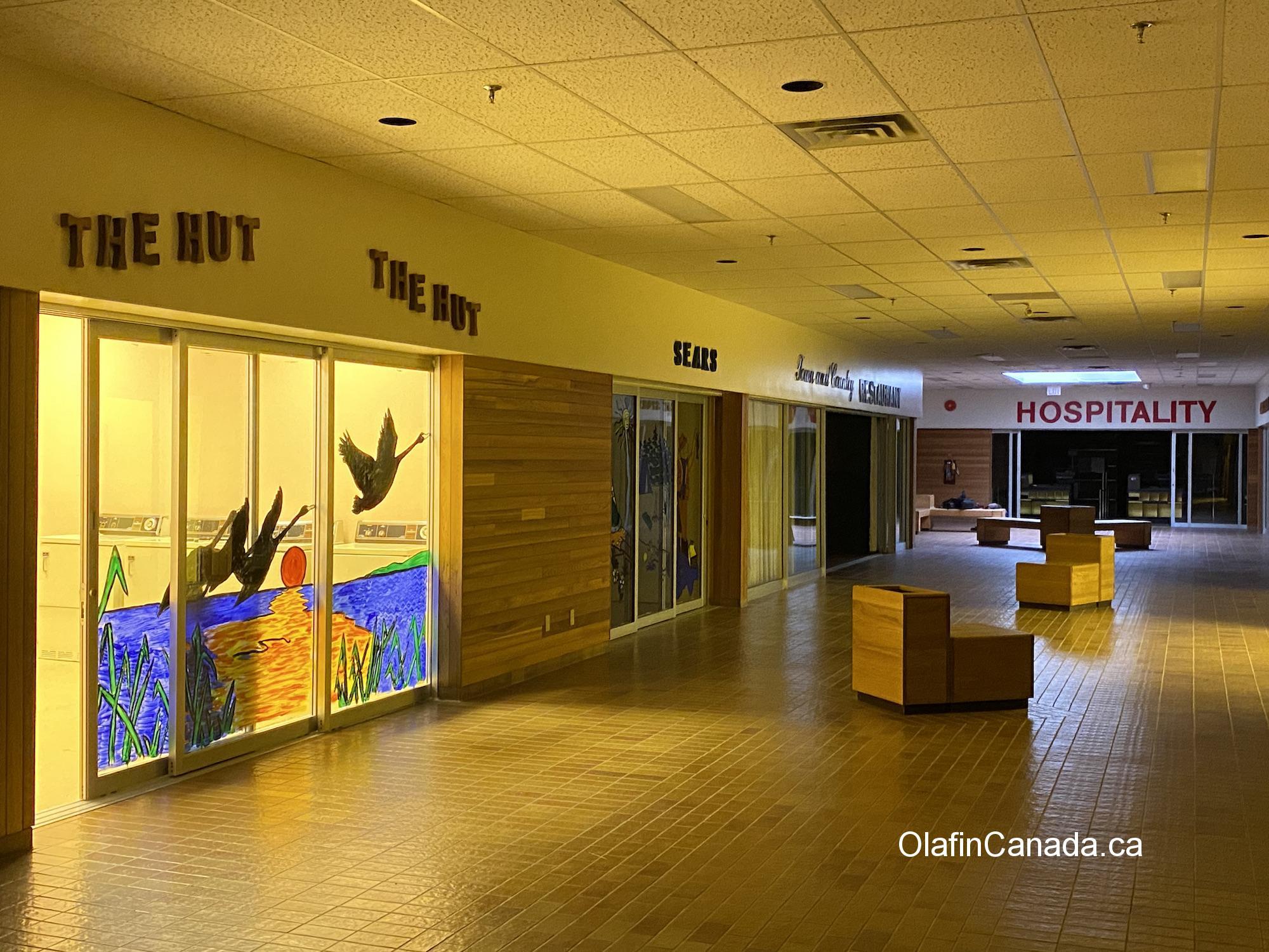 Mall in Kitsault with supermarket, pub and post office #olafincanada #britishcolumbia #discoverbc #abandonedbc #kitsault