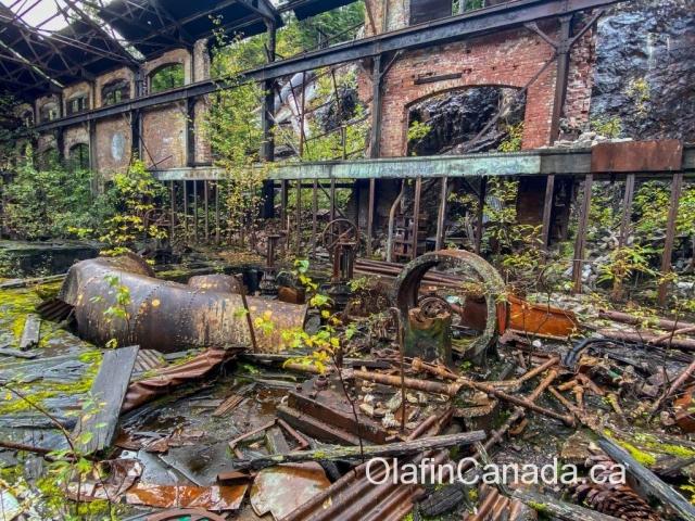 Inside powerhouse No.1 at Anyox #olafincanada #britishcolumbia #discoverbc #abandonedbc #anyox #powerhouse