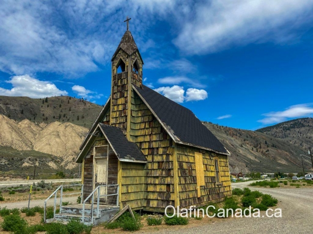 St. Michaels Church or Nlakpamux Church (1905) in Spences Bridge #olafincanada #britishcolumbia #discoverbc #abandonedbc #church