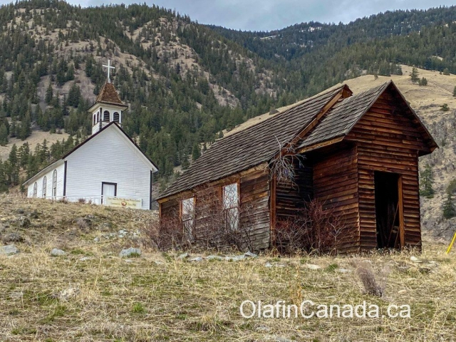 Old Saint Anns Chuchuwayha First Nations Mission Church from 1908 near Hedley #olafincanada #britishcolumbia #discoverbc #abandonedbc #church