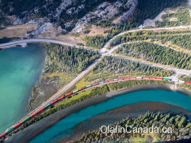 Train from helicopter #olafincanada #britishcolumbia #discoverbc #helicopterview