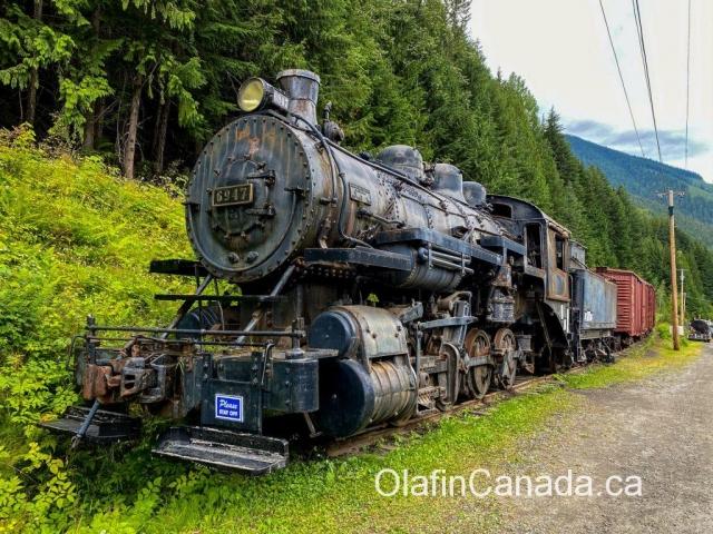 CPR Locomotive #6947 built in 1908 #olafincanada #britishcolumbia #discoverbc #abandonedbc #sandon #locomotive