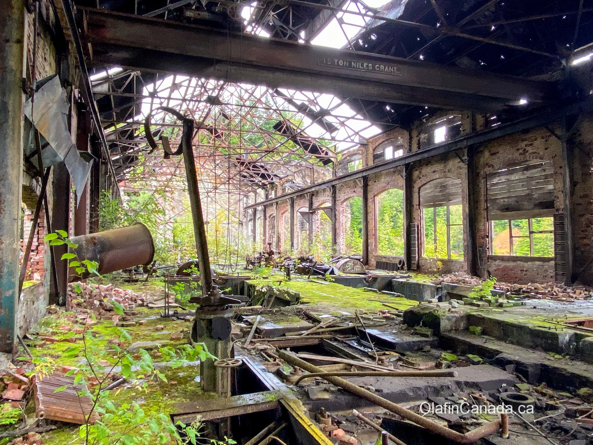 Powerhouse provided electricity for the smelter, machine shops and other mining operations, as well as the town #olafincanada #britishcolumbia #discoverbc #abandonedbc #anyox #powerhouse