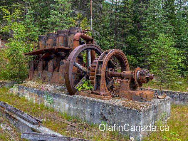 Old pump at mine in Cody #olafincanada #britishcolumbia #discoverbc #abandonedbc #cody
