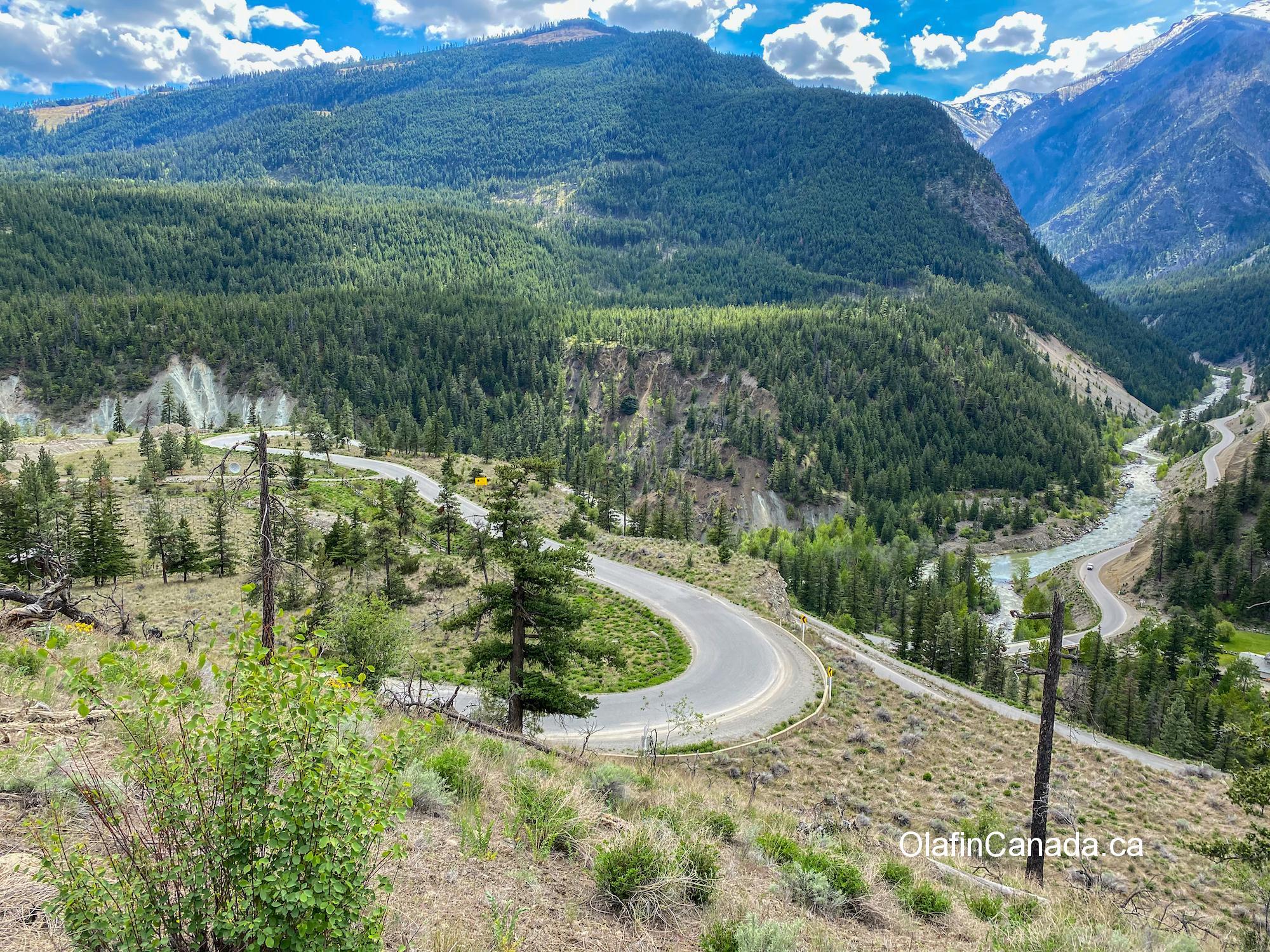 Winding road towards Bradian, near Carpenter Lake #olafincanada #britishcolumbia #discoverbc #landscape #windingroad