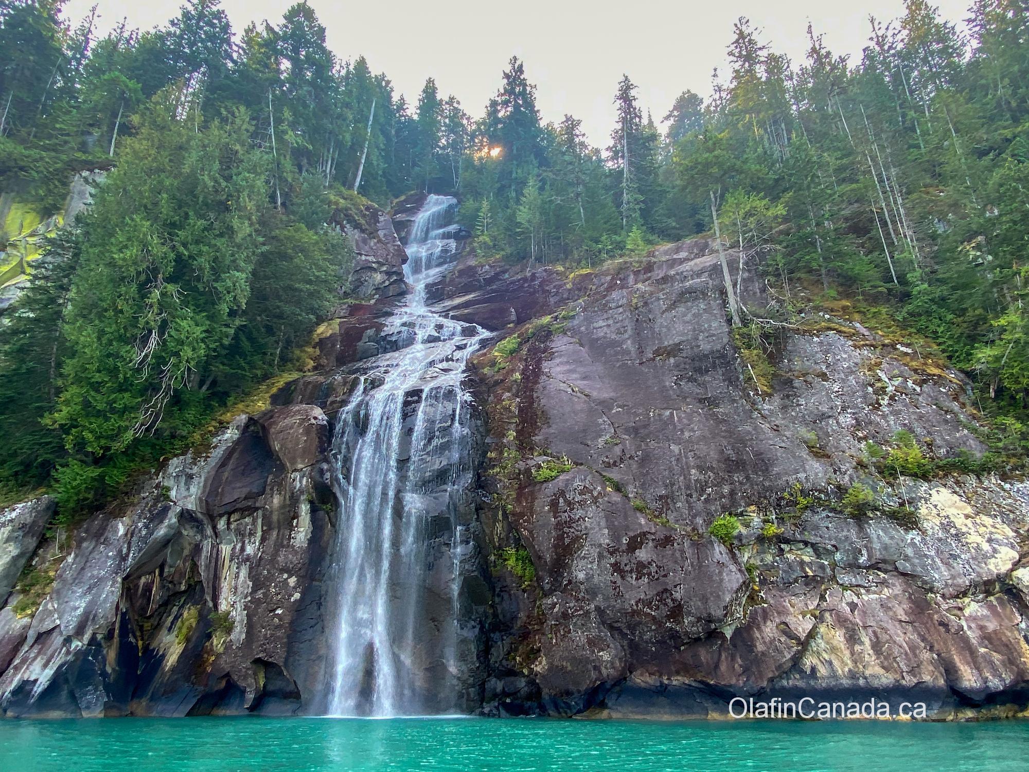 Waterfall near Terrace BC #olafincanada #britishcolumbia #discoverbc #campbellriver #waterfall