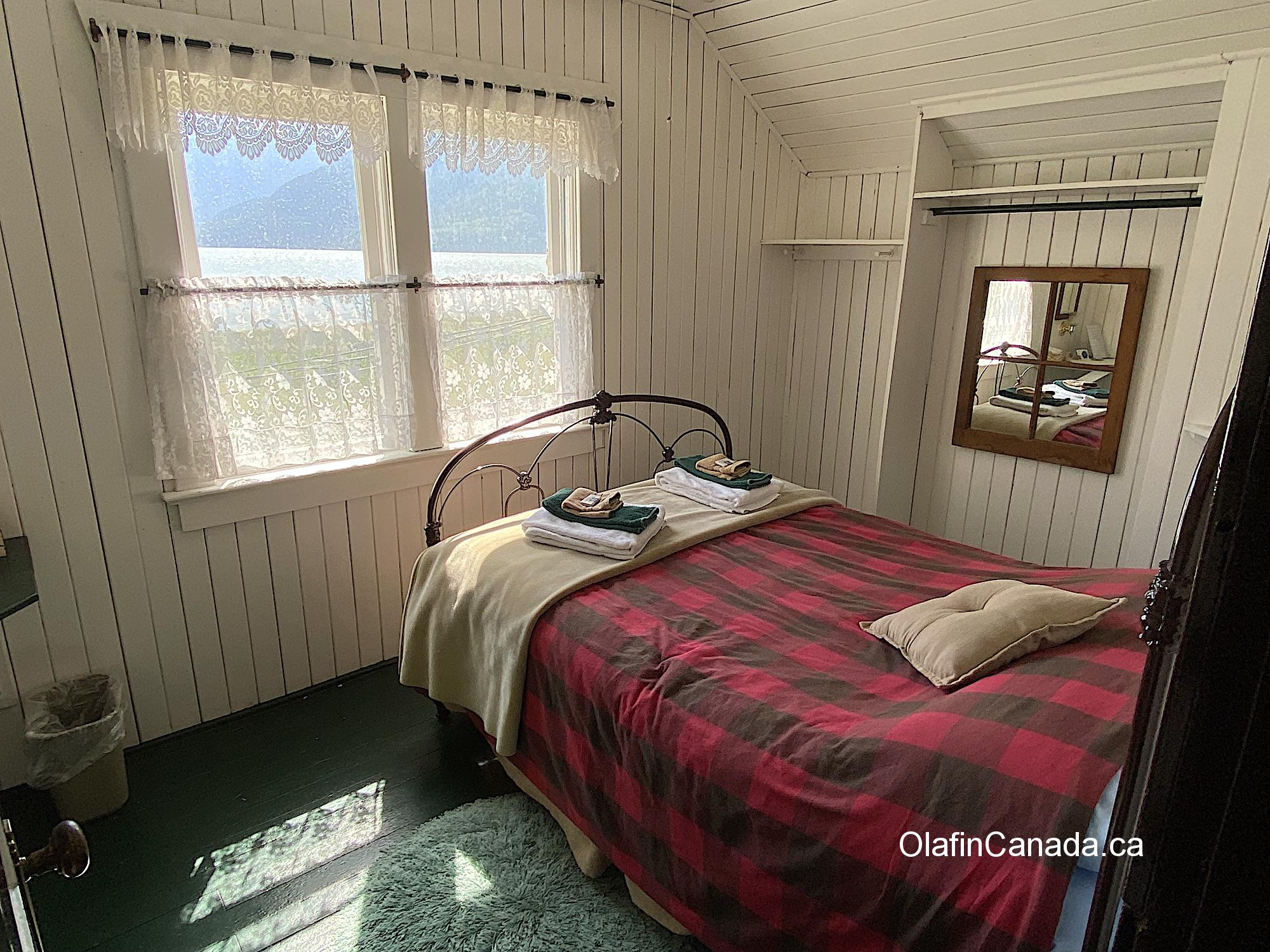 A bedroom in the guesthouse of the Tallheo Cannery in Bella Coola Items in the shop at the Tallheo Cannery in Bella Coola #olafincanada #britishcolumbia #discoverbc #abandonedbc #tallheocannery #bellacoola