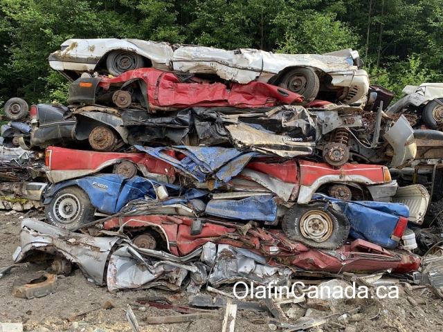 Car dump in Bella Coola #olafincanada #britishcolumbia #discoverbc #abandonedbc #cariboo #bellacoola