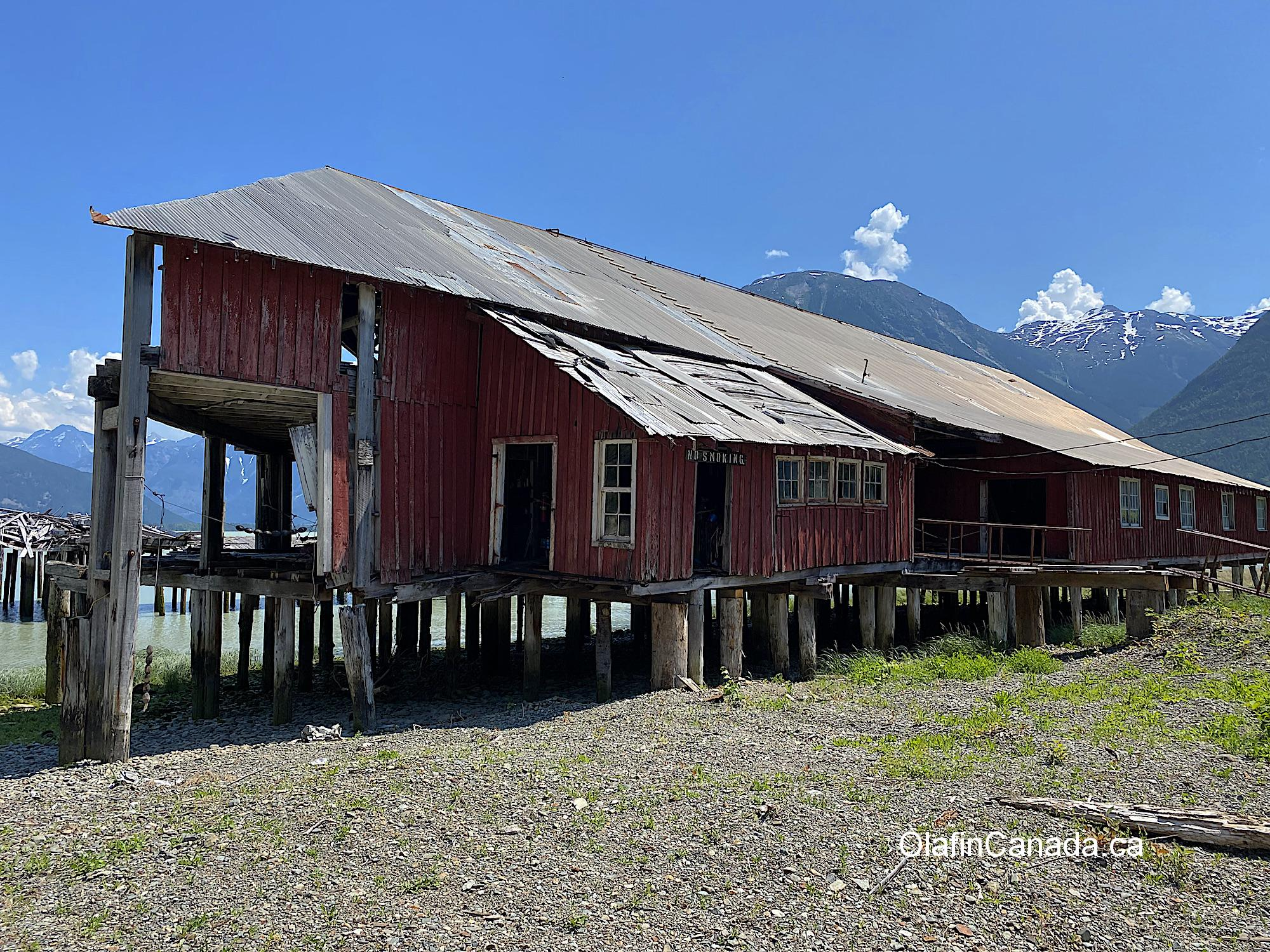 The cannery itself taken from the shore #olafincanada #britishcolumbia #discoverbc #abandonedbc #tallheocannery #bellacoola