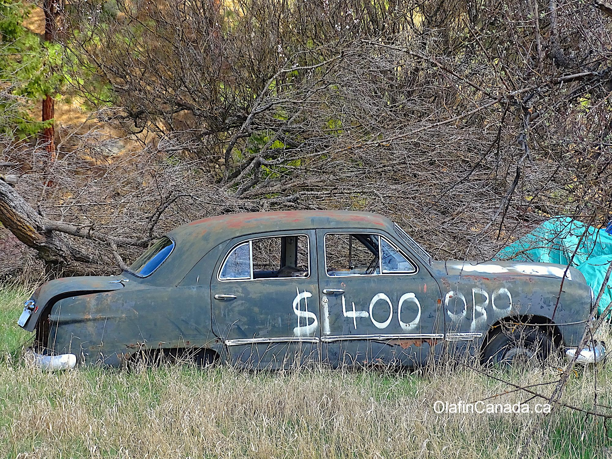 Car for sale near Grand Forks BC #olafincanada #britishcolumbia #discoverbc #abandonedbc #grandforks #car