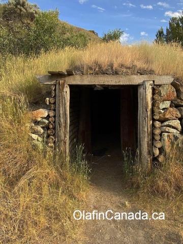 Root cellar near the homestead at the Pothole Ranch #olafincanada #britishcolumbia #discoverbc #abandonedbc #chilcotin #farwellcanyon #potholeranch #homestead