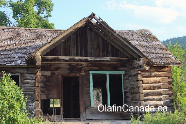 Entrance of the homestead at the Pothole Ranch #olafincanada #britishcolumbia #discoverbc #abandonedbc #chilcotin #farwellcanyon #potholeranch #homestead