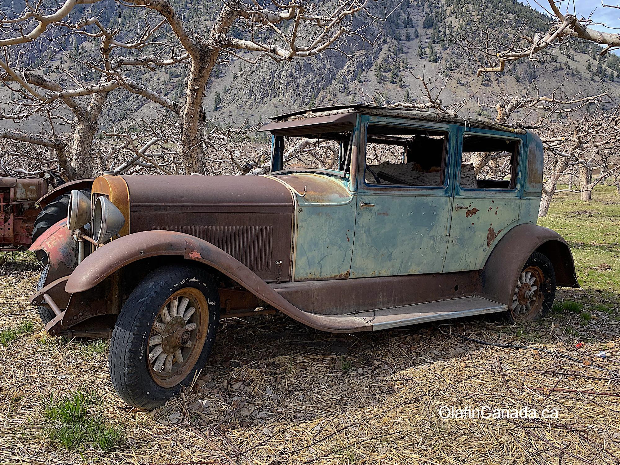 Old car from the thirties in Keremeos #olafincanada #britishcolumbia #discoverbc #abandonedbc #keremeos #car