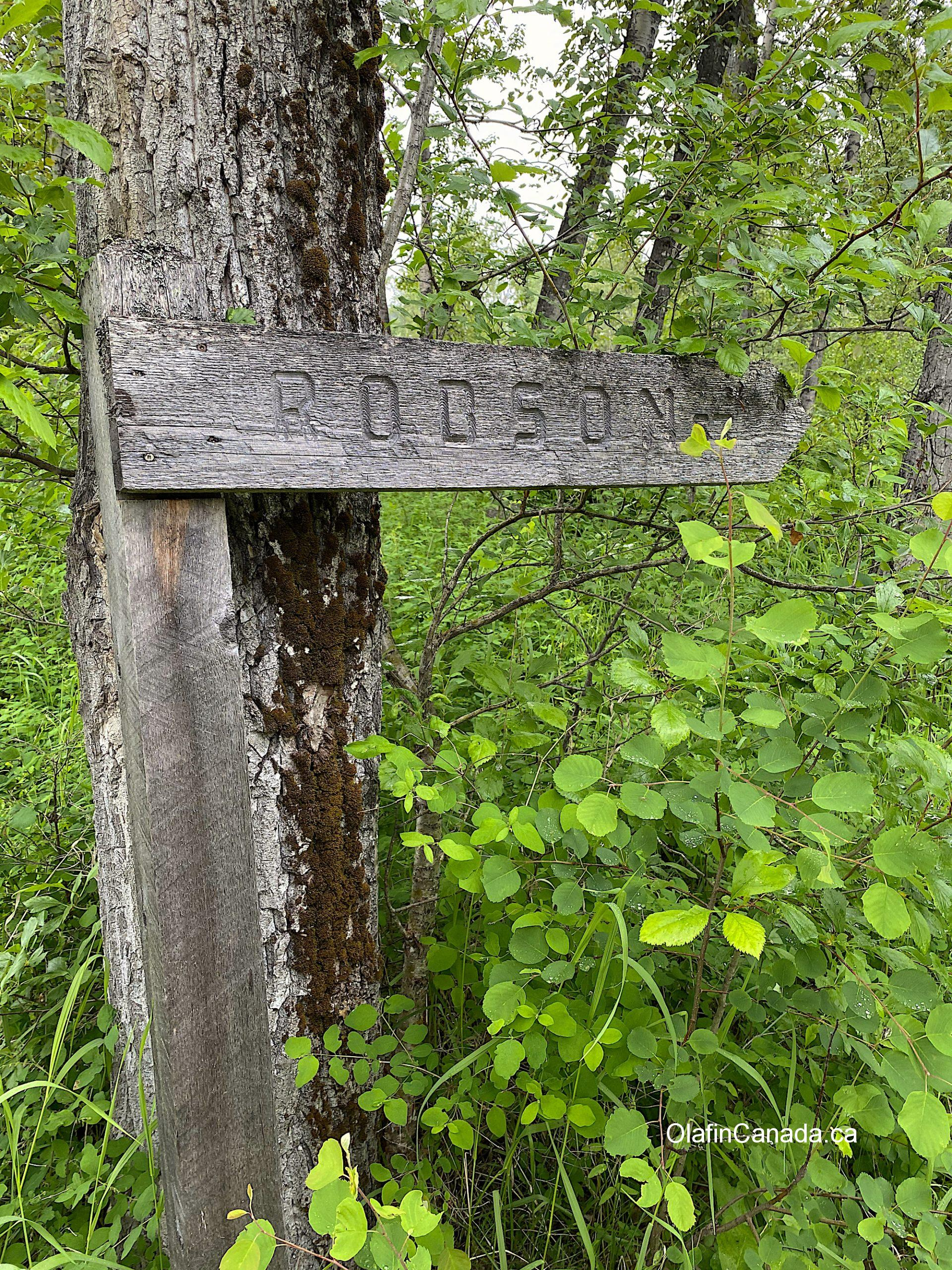 Robson Street sign in Quesnel Forks Old grave at the cemetery in Quesnel Forks #olafincanada #britishcolumbia #discoverbc #abandonedbc #cariboo #quesnelforks