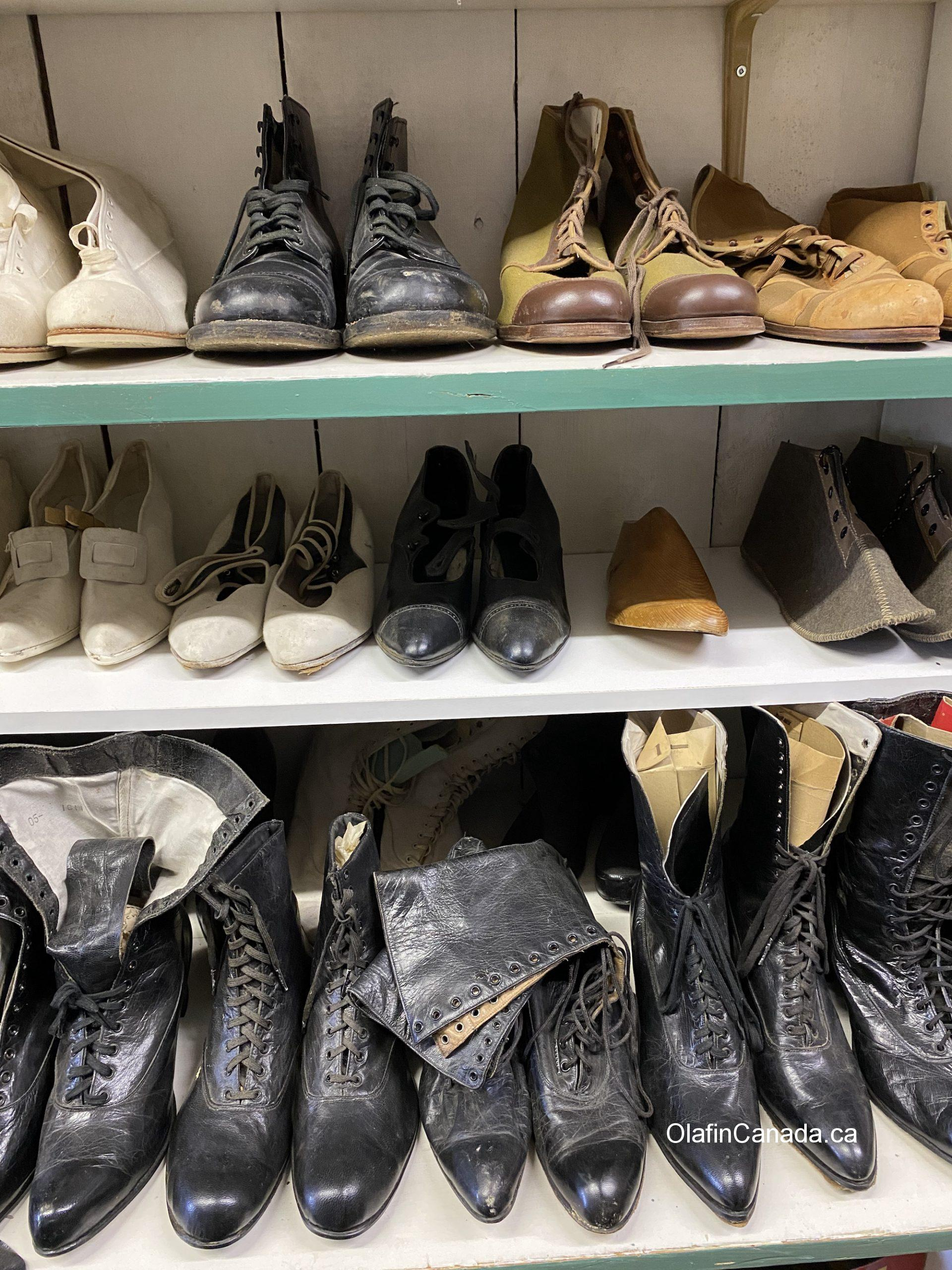 Shoes from the past at the General Store in 153 Mile House #olafincanada #britishcolumbia #discoverbc #abandonedbc #153milehouse #generalstore #backintime