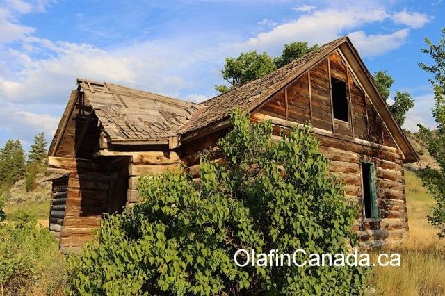 Sunset on the homestead of the Pothole Ranch #olafincanada #britishcolumbia #discoverbc #abandonedbc #chilcotin #farwellcanyon #potholeranch #homestead