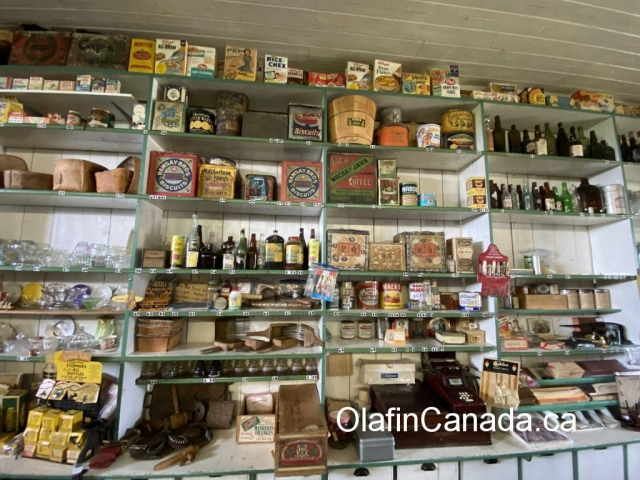 Counter at the General Store in 153 Mile House #olafincanada #britishcolumbia #discoverbc #abandonedbc #153milehouse #generalstore #backintime