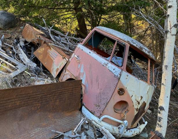 Volkswagen Transporter dumped in Ogden BC #olafincanada #britishcolumbia #discoverbc #abandonedbc #ogden #volkswagen #car