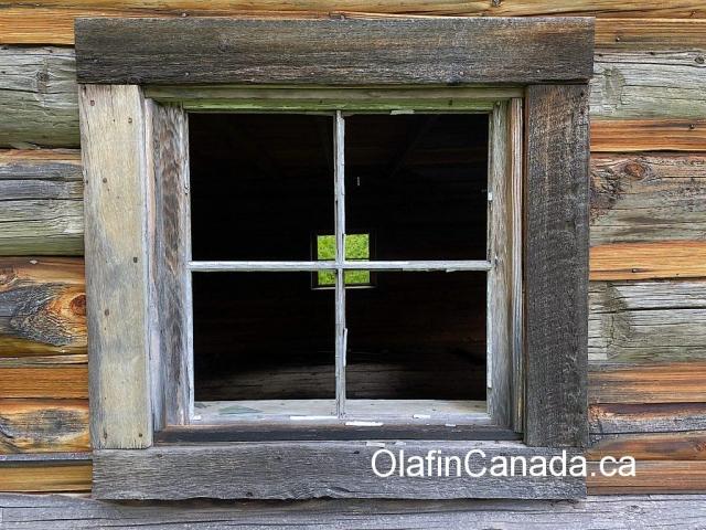 Old window of Hermit's cabin #olafincanada #britishcolumbia #discoverbc #abandonedbc #cariboo #quesnelforks